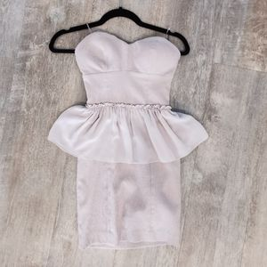 Guess padded strapless dress
